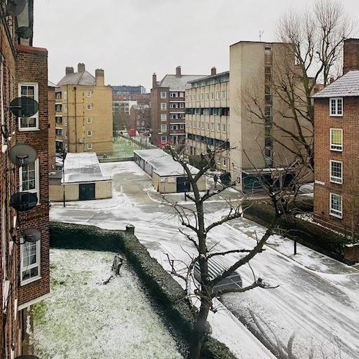street life London in winter