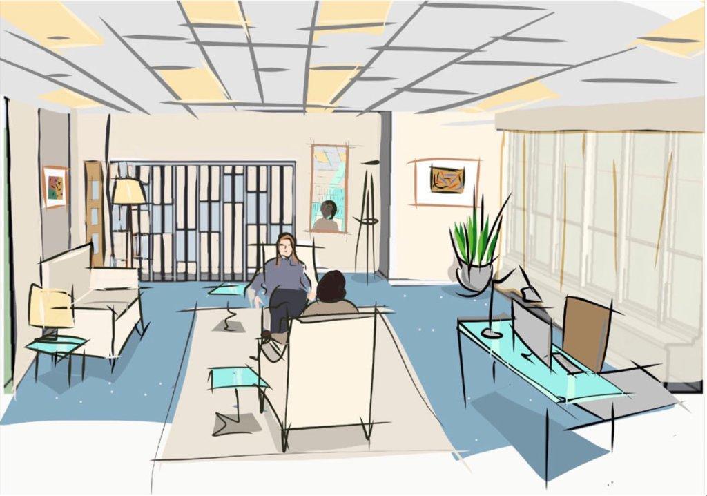Sketch of set-design for TV series Wanderlust