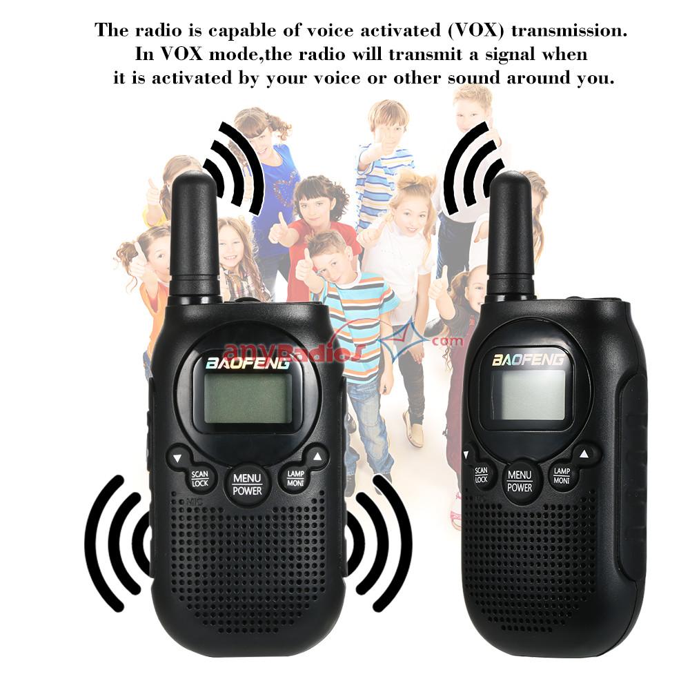 05W VOX Flashlight Key Lock 15KM Range New T6 Baofeng Mini Walkie Talkie Walkie Talkie Two
