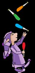 Le PoZ jongleur violet