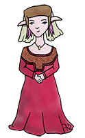 PoZie damoiselle du Moyen-Age