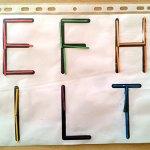 Lettres droites