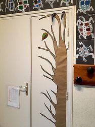 Arbre d'automne - décoration de porte
