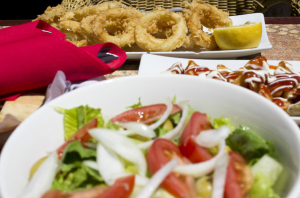 Calamari and Salad