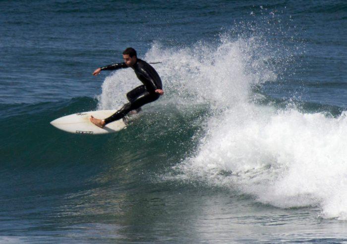Surfing at Mundaka