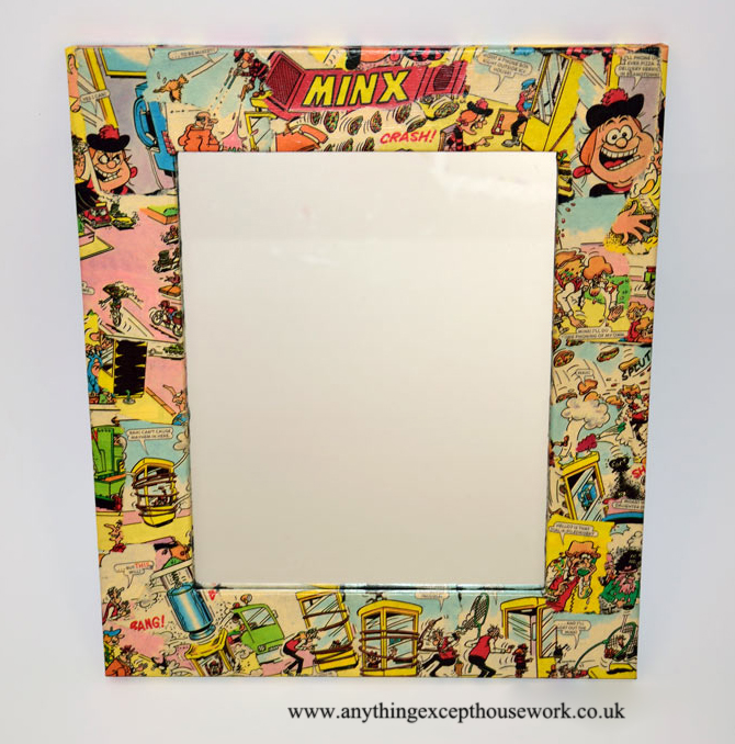 decoupage using comics