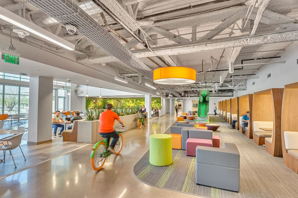 Wouldn't we all like to get around in GoDaddy style bicycles in the office?