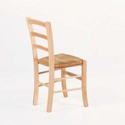chaise rustique en bois et assise paille broceliande