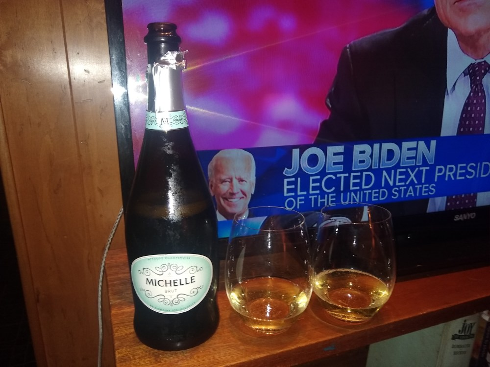 Election celebration - it was a fun, slightly nerve-wracking week (though Chad never lost confidence in the outcome)