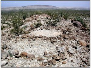 Rock circles in the desert.