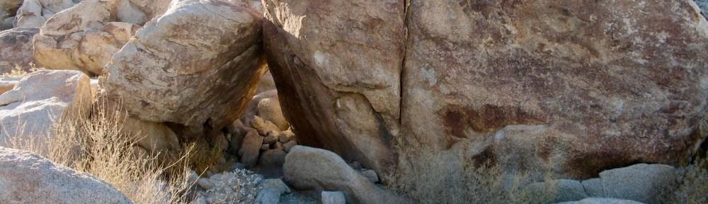 Rock shelter in desert