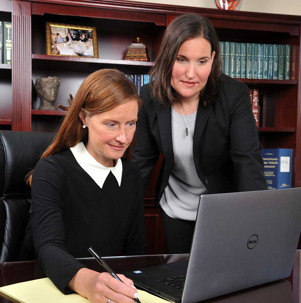 Jane Smedley Anzalone and Caelie McCormick Sweigart   Anzalone Law Offices, LLC   Personal Injury Attorneys