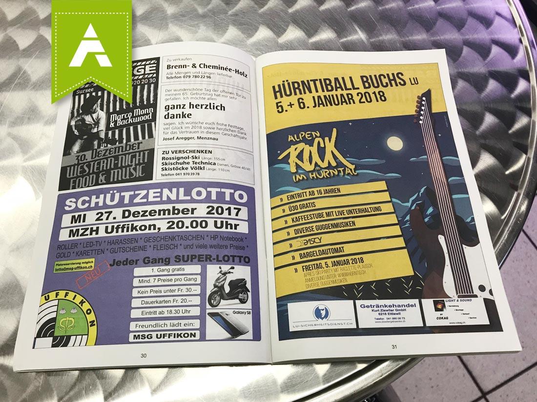 Flyer HÜRNTIBALL 2018 im Wochenpass