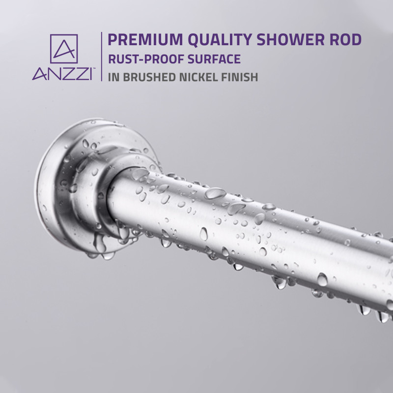 anzzi 48 88 inches shower curtain rod