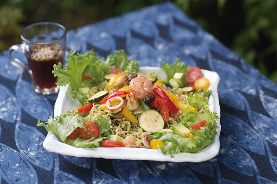 『夏野菜の冷製ヌードル』の完成イメージ