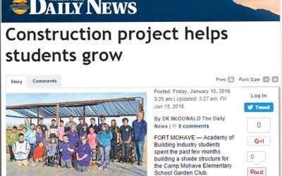 Construction Project Helps Students Grow