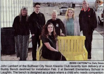 Buddy Bench made for Kiwanis Club