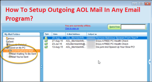 Setup Outgoing AOL Mail In Any Email Program