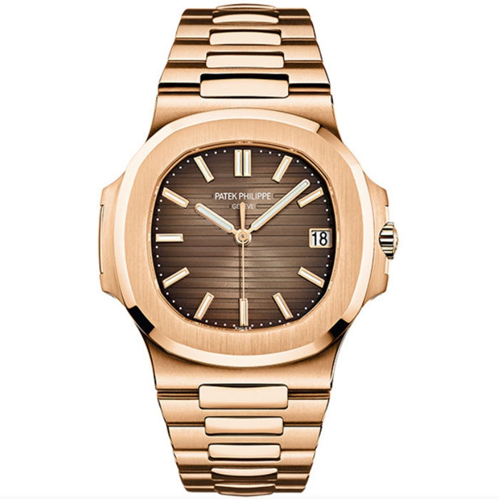 Replica Patek Philippe Nautilus 5711/1R-001 Rose Gold Brown Dial