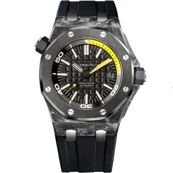 Replica Audemars Piguet Royal Oak Offshore Diver Black 15706AU.OO.A002CA.01