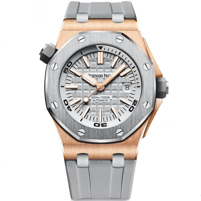 Replica Audemars Piguet Royal Oak Offshore Diver Rose Gold 15711OI.OO.A006CA.01