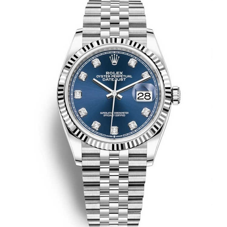 Replica Rolex Datejust 36 Steel Blue Diamond Dial 126234
