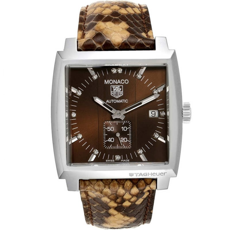 Replica TAG Heuer Monaco Diamond Python Leather Ladies WW2116.FC6217