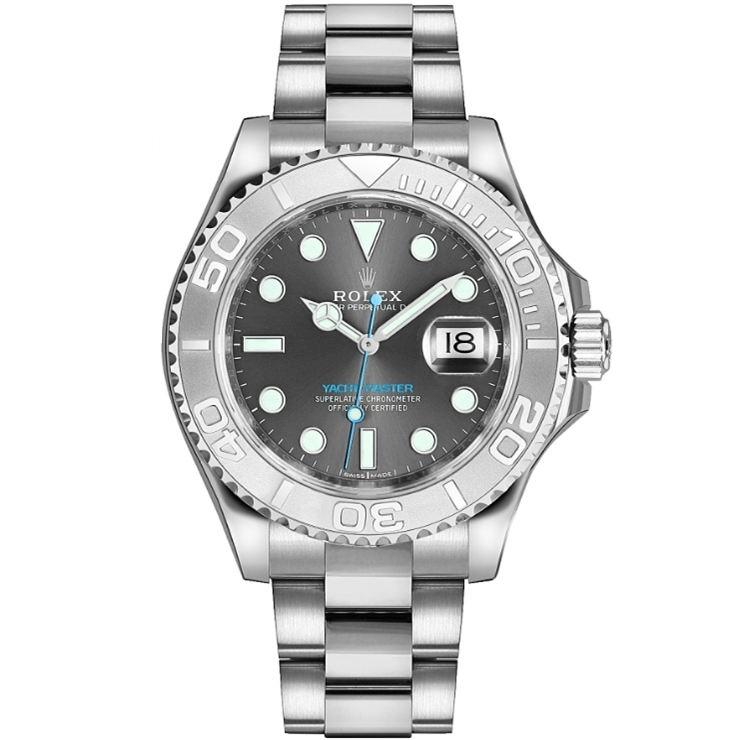 Replica Rolex Yacht-Master 37 Ladies Dark Rhodium Dial 268622