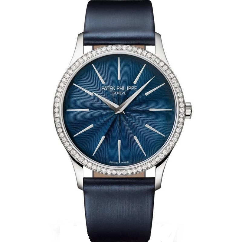 Replica Patek Philippe Calatrava Ladies Diamond Blue Dial 4997/200G-001