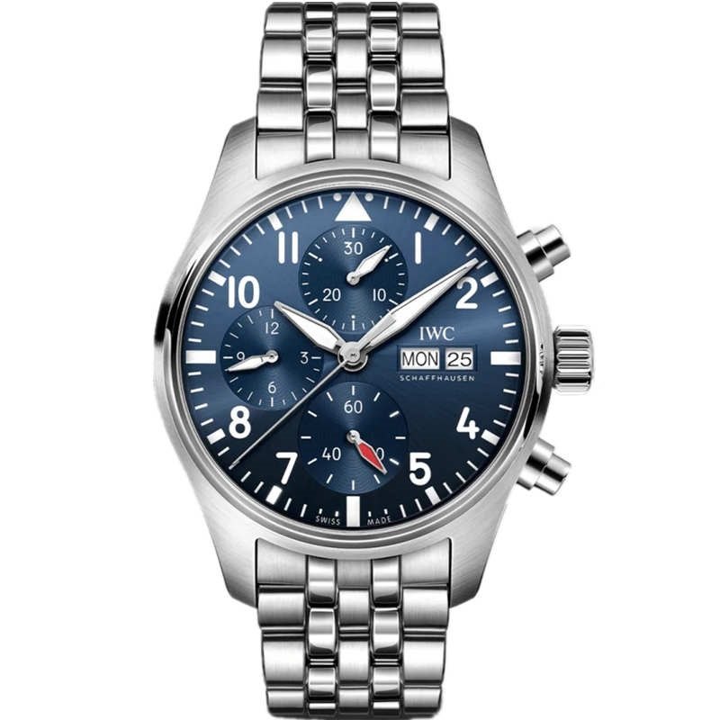 Replica IWC Pilot Chronograph 41 Stainless Steel Blue Dial IW388102