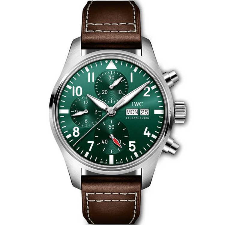 Replica IWC Pilot's Watch Chronograph 41 Green Dial IW388103