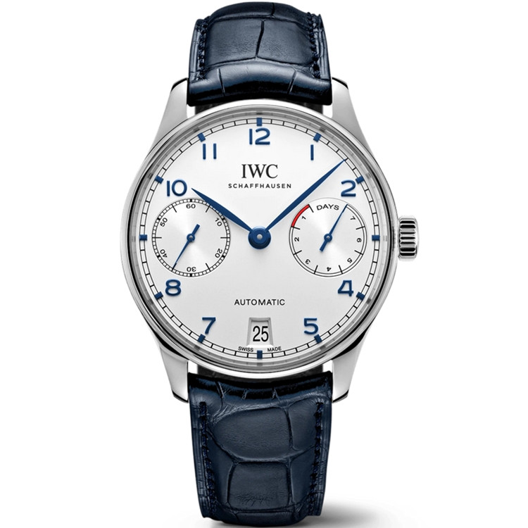 Replica IWC Portugieser Automatic 7 Day Power Reserve Silver Dial IW500107