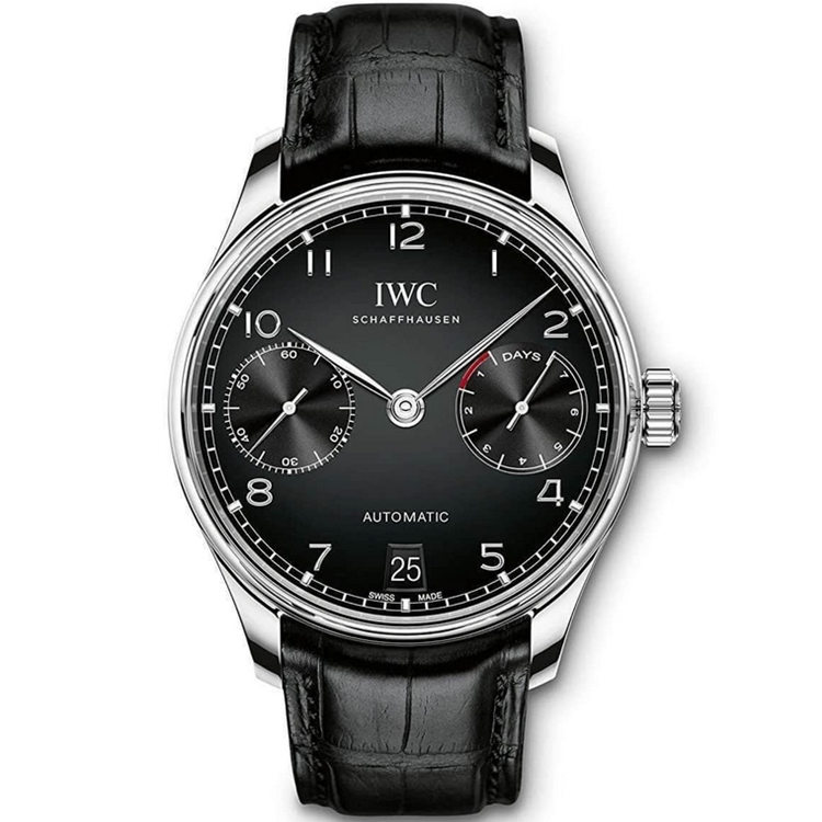 Replica IWC Portugieser Automatic 7 Day Power Reserve Black Dial IW500703