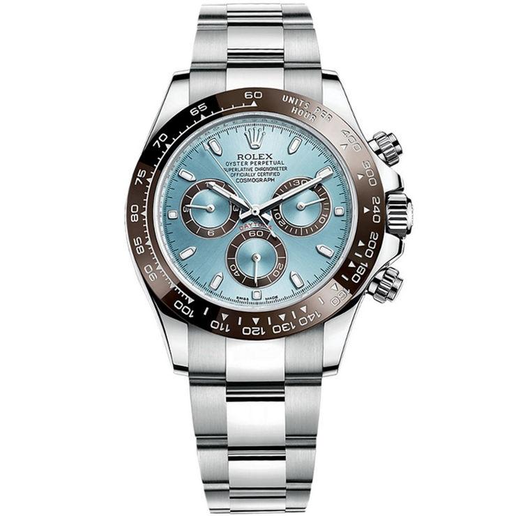 Replica Rolex Cosmograph Daytona Platinum Ice Blue 116506
