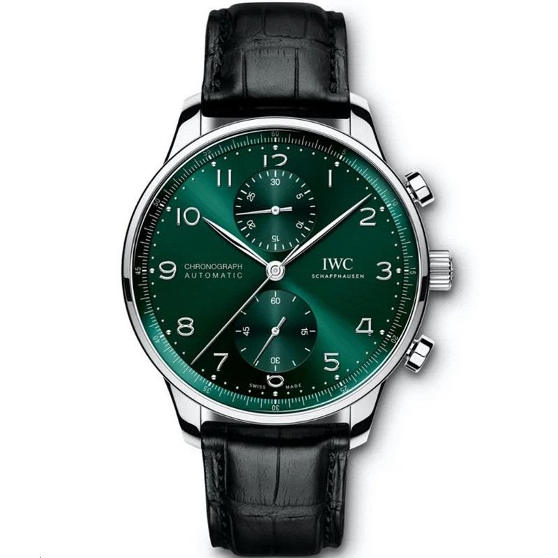 Replica IWC Portugieser Chronograph Green Dial IW371615