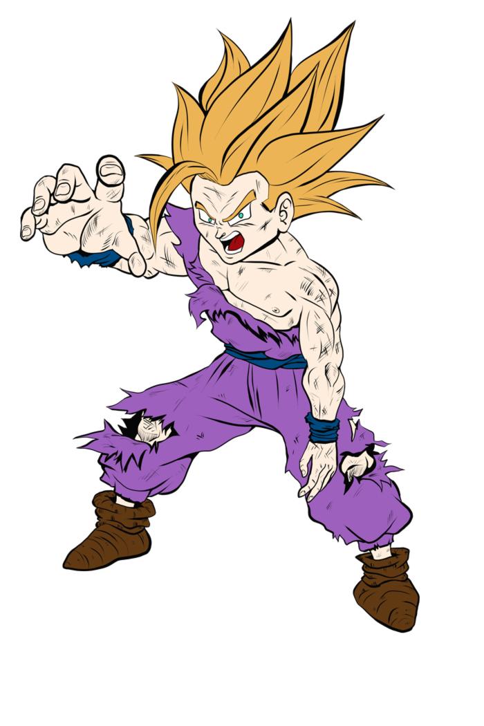 Fan Art Dragon Ball Z Gohan Adolescent Super Sayan 2