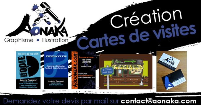 Aonaka - Création de Cartes de visites