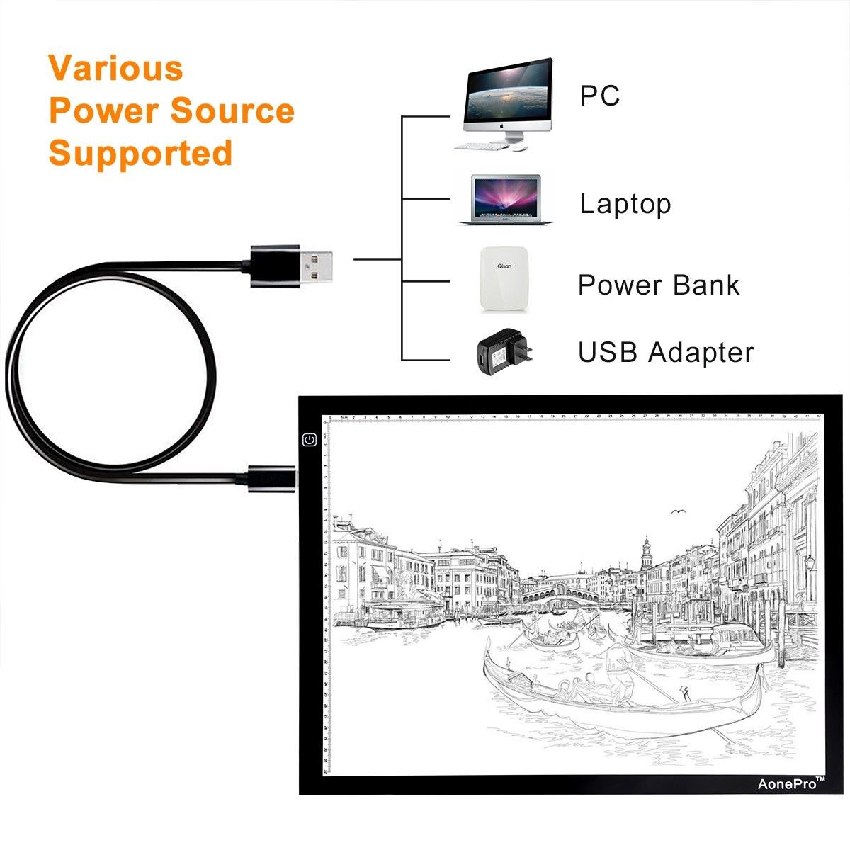 A3 Led Tracing Light Box Usb Powered Ultra Thin 19 Inch