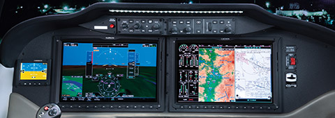 Garmin G2000 touch-screen with FMS