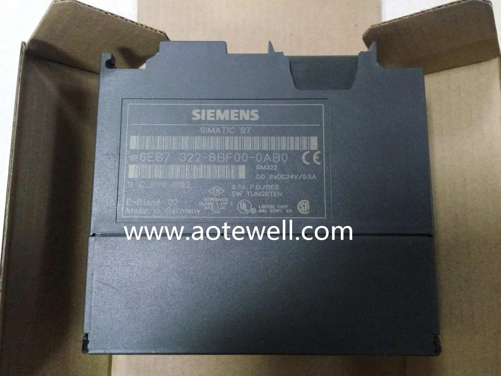 Siemens 6ES7 322-1BL00-0AA0 E-stand:8 LAST VERSION SM322 PLC S7-300