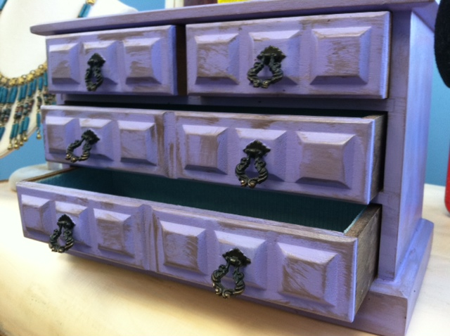 New Item Purple Distressed Wood Jewelry Dresser Among Other Things