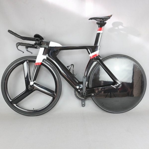 700C Complete Bike TT Bicycle Time Trial Triathlon Carbon Fiber Carbon Black Painting Frame with DI2 R8060 groupset 2