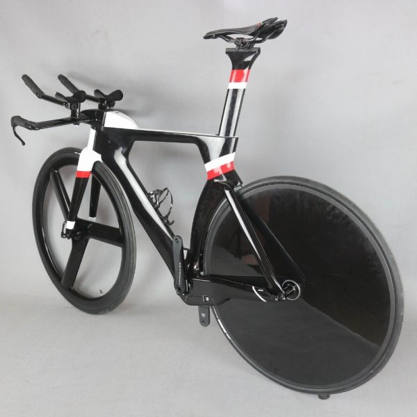 700C Complete Bike TT Bicycle Time Trial Triathlon Carbon Fiber Carbon Black Painting Frame with DI2 R8060 groupset 5