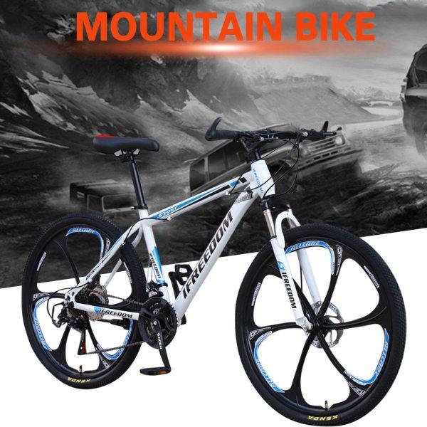26 INCH Bike 21-Speed Mountain Bicycle Aluminium Double Disc Brake MTB Bike Bisiklet Bicicleta Mountain Road Cycling mtb 6.18 2