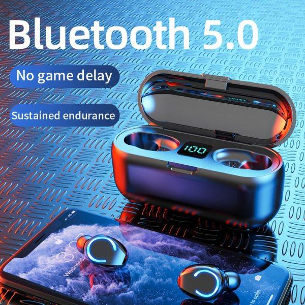 Mini TWS Bluetooth 5.0 Earphones Wireless Headphones 9D Hifi Stereo Sports Waterproof Wireless Earphone Headset With Microphone 3