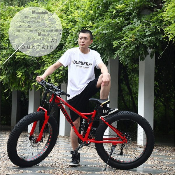 Multi-speed Cross-country 26inch Snow Bike Adult Extra wide 4.0 Large Tire Mountain Bike Male Female Cycling Students Bicycle 5