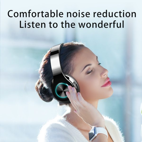 Wireless Headphones Bluetooth Earphone 5.0 Deep Bass Stereo Noise Reduction Gaming Headsets For Mobile 4