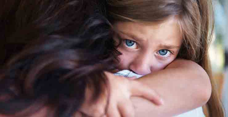 Sad frightened child