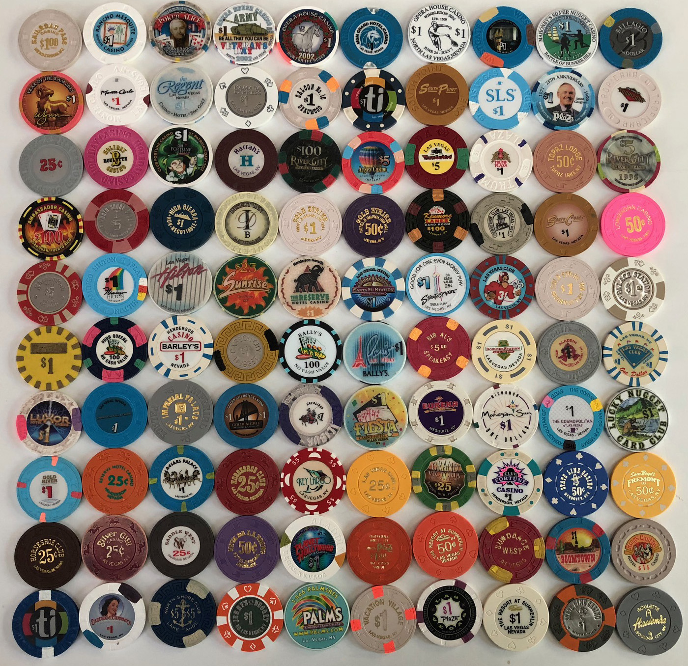 Casino Chip Collection