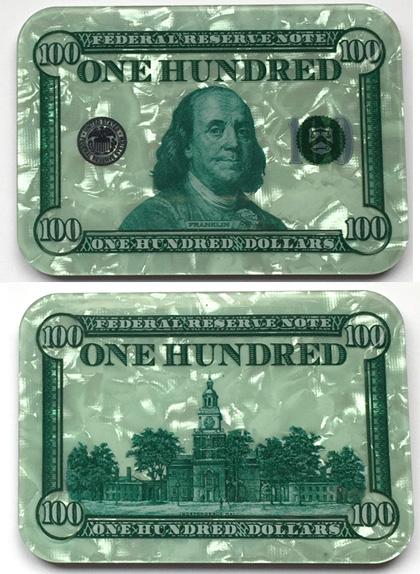 $100 Ben Franklin Poker Plaque